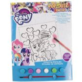 72 Units of Paint Kit My Little Pony Coloring Board,6 Paints,1 Brush - Coloring Books