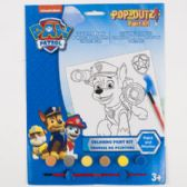 72 Units of Paint Kit Paw Patrol Coloring Board, 6 Paints,1brush - Paint and Supplies