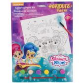 72 Units of Paint Kit Shimmer And Shine Coloring Board,6 Paints,1 Brush - Paint and Supplies