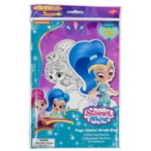 96 Units of Art Boards Shimmer And Shine Pop Outz! Markers,stickers,and Pop Out Characters - Coloring Books