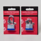 72 Units of 30mm Padlock Laminated W/keys Long/short Shackle Hdw Blc