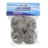 72 Units of Scourers 4pk Heavy Duty Stainles Steel 20g/pc Cleaning Pbh - Scouring Pads & Sponges