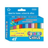 96 Units of 48 Count colored chalks