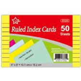 "96 Units of cled index card 4x6""/50 count"