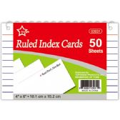 "96 Units of Index card 4x6""/50 count"