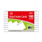 "96 Units of Index cards 3x5""/100 count spiral book"