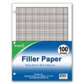 96 Units of 100 count graph filler paper - PAPER