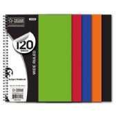 48 Units of 3-subject /120 count notebook poly cover