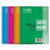 72 Units of 3-subject/120 count notebook