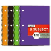 72 Units of 5-subject/150 count notebook college rule