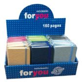 """96 Units of Notebook assorted color 24/192's 3x4.2""""/160 page"""