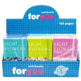 """96 Units of Notebook flower 24/144's 3.5x5.5""""/192 page"""