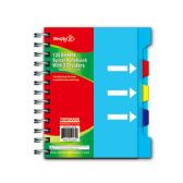 """96 Units of Notebook 4.25x5.75""""/120 count w/dividers"""