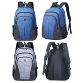 """12 Units of Laptop Backpack assorted colors - Backpacks 18"""" or Larger"""