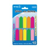96 Units of 250 Count neon stick on flag note - Sticky Note & Notepads