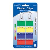 96 Units of Colored binder clips - Clips and Fasteners