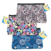 96 Units of Pencil Pouch 3hole Binder 3ast Patterns/polyester Stat Ht - Pencil Boxes & Pouches