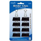 "96 Units of Binder clip black 1.75""/8 count - CLIPS/FASTENERS"