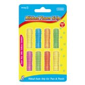 96 Units of 8 Piece ribbed grip