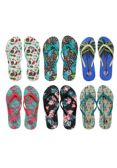 96 Units of Womens Printed Flip Flops - Women's Flip Flops