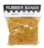 50 Units of HALF POUND RUBBER BAND POLY BAG