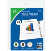 108 Units of 20 Count sheet protector
