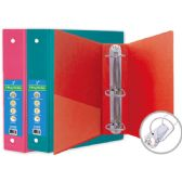 """24 Units of 3"""" Hard cover binder 3-ring w/pocket - Clipboards and Binders"""
