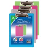 """48 Units of Clip board 12x9"""" transparent color - Clipboards and Binders"""