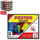 "96 Units of Poster board neon 11x14""/5 count - Poster & Foam Boards"