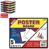 "96 Units of Poster board white 48's 11x14""/5 count - Poster & Foam Boards"