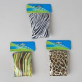 72 Units of Shower Cap Fashion Prints 3ast Satin/12pc Mdsgstrip Hba Oppbag W/header - Shower Caps