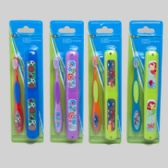 72 Units of Toothbrush Kids W/case 4asst 2boy/2girl Prints/blister Card Soft Bristle