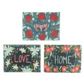 36 Units of Wall Art 10.5x8.5 3 Assorted Love,home,butterfly