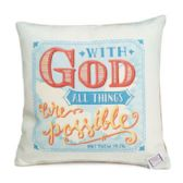 60 Units of Pillow 12x12 Matthew 19:26