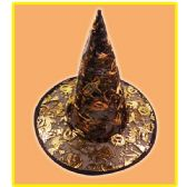 144 Units of Witch hat assorted design