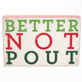32 Units of Wall Decor Better Not Pout 3-3/4x5-3/4 Christmas Mds