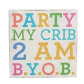 96 Units of Wall Decor Party My Crib 4 X 4 Mdf - Signs & Flags