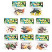 96 Units of Animal World 6pk/8asst Plastic Figures On 12pc Clipstrip