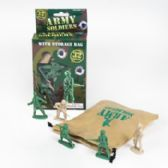 96 Units of Army Soldier 32pc W/storage Bag Grn/brwn Plstc In Color Box