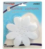 48 Units of 6 Piece Bath Tub Flower Appliques - Bath And Body