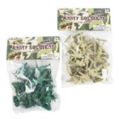 96 Units of Army Soldiers 24pc 2inh Plastic Figures Green Or Khaki