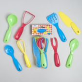72 Units of Kitchen Tool Playset 8ct Kids Plastic Asst Serving Set Net