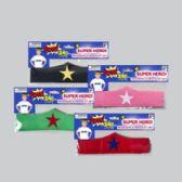 96 Units of Superhero Headband & Bracelet Set/felt 4ast Colors W/star Pink/green/red/black Hero/pbh