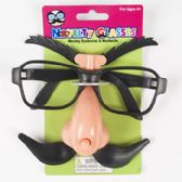 72 Units of Glasses Novelty W/moving Stache & Eyebrows 12pc Mdsgstrip/tiecrd