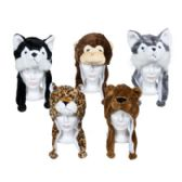 30 Units of Animal Plush Hats W/long Ears 5ast Animals/ht W/jhook