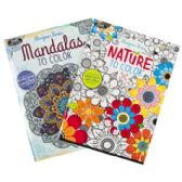 72 Units of Coloring Book Adult 32pg 2 Asst Nature & Mandalas