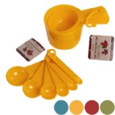 72 Units of Measuring Cup 4pk Or Spoon 6pk Plastic/fall Colors/fall Ht