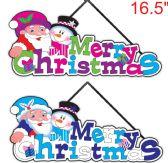 "96 Units of 16.5"" X'mas deco.plaque - Christmas Decorations"