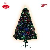 "2 Units of X""mas fiber optical tree/3 Foot-led - Christmas Ornament"
