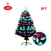 6 Units of 3 Foot optical fiber tree pre-lit LED UL - Christmas Ornament